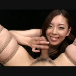 Dirty asian bitch playing with dude's cock bound in karada style