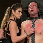 Fatale young lady loved dominating helpless hot man in some bdsm fuck action