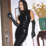Steaming hot jessica jaymes smokes and spreads black latex