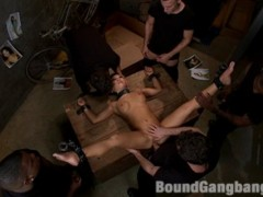 Asa akira in extreme 5 guy gangbang! fucked in bondage, stuffed airtight, creampied, covered in cum, and left tied up in an abandoned building!